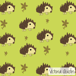 hedgehog digital pattern