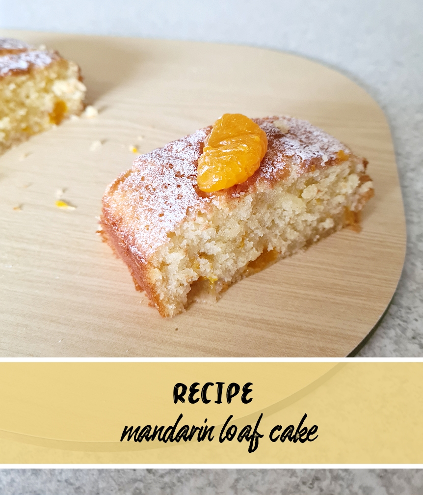 recipe for mandarin loaf cake, title image